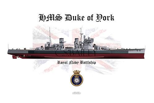 HMS Duke of York  F/H t-shirt