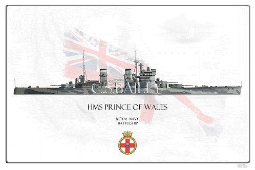 HMS Prince of Wales WL Print