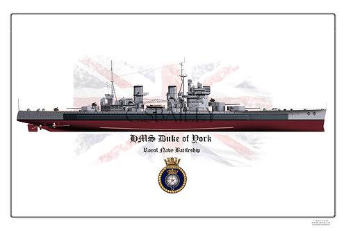 HMS Duke of York F/H print