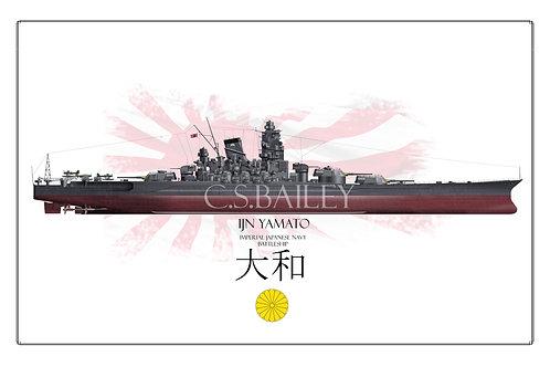 IJN Yamoto FH Print