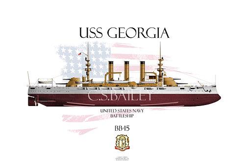 USS Georgia BB-15 FH T-shirt