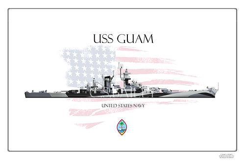 USS Guam Dazzle WL Print
