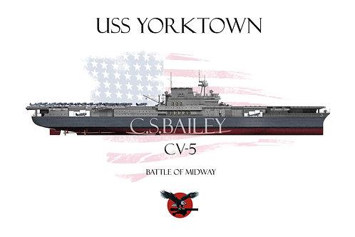 USS Yorktown FH T-shirt