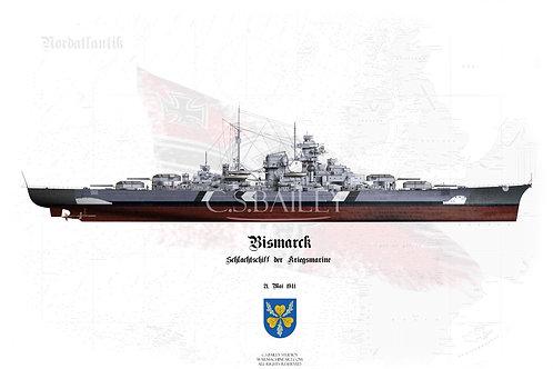 Bismarck Baltic Camo Full FH t-shirt