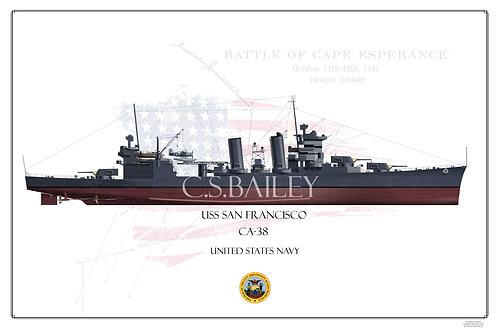 USS San Francisco FH Print