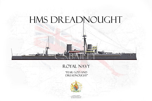 HMS Dreadnought WL t-shirt