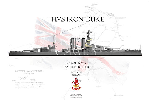 HMS Iron Duke WL t-shirt