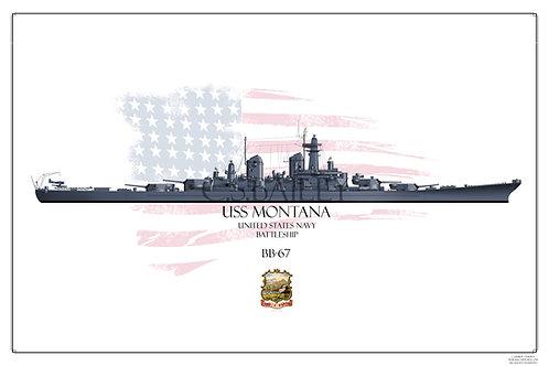 USS Montana Early MS-21 BB-67