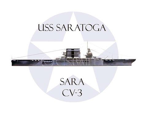 USS Saratoga 1940 CV-2