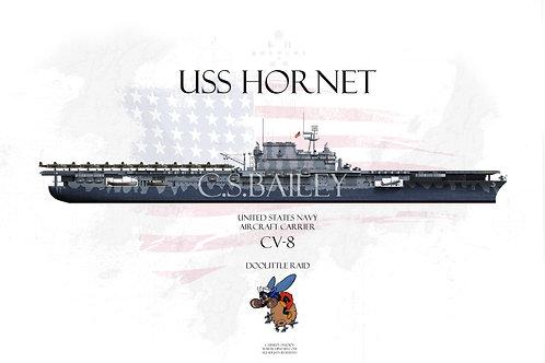 USS Hornet CV-8 Doolittle raid WL Print