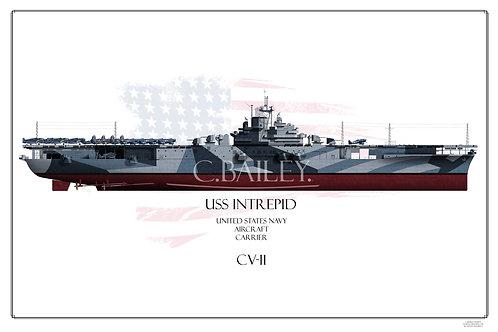 USS Intrepid CV-11 F/H Print