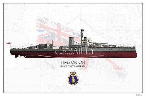 HMS Orion FH  print
