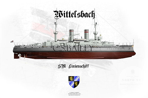 SMS Wittelsbach FH t-shirt