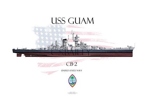 USS Guam MS 22 FH T-shirt