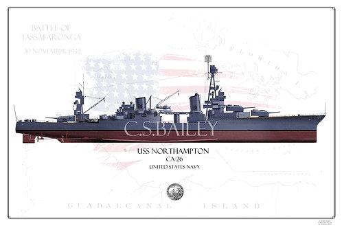 USS Northampton CA-26 FH Print