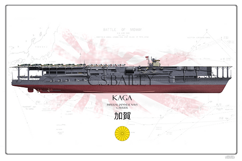 IJN Kaga Battle of Midway FH Print