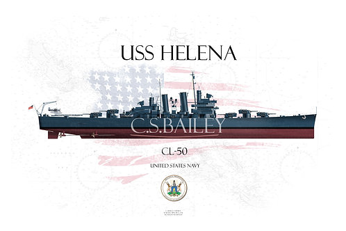 USS Helena FH Print