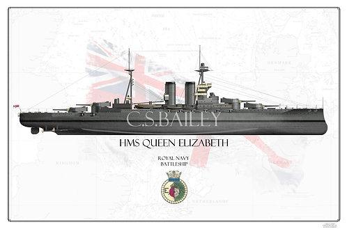 HMS Queen Elizabeth FH print