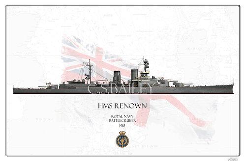 HMS Renown WL 1918  Print