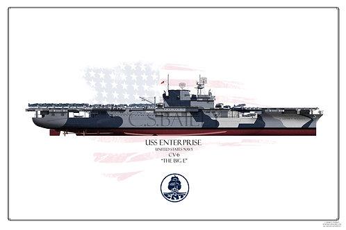 USS Enterprise CV-6 FH Dazzle 1944