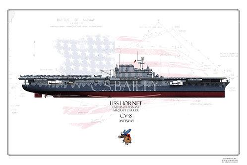 USS Hornet CV-8 Midway FH Print