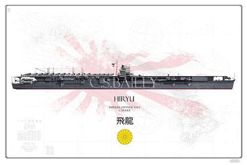 IJN Hiryu Pearl Harbor Raid WL Print