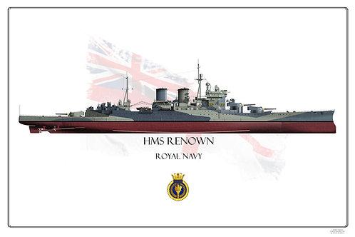 HMS Renown FH Print