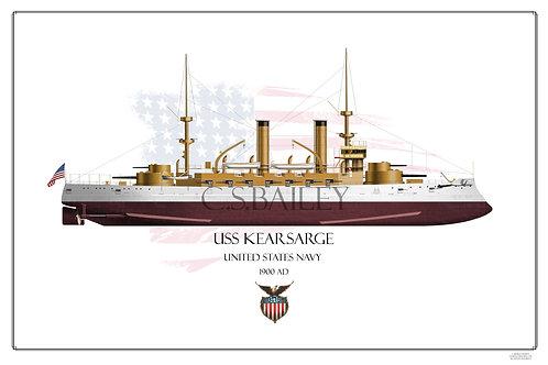 USS Kearsarge BB-5 FH Print