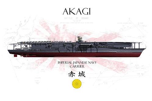 IJN Akagi  Midway Full hull t-shirt