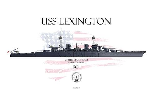 USS Lexington CC-1 WL 1941