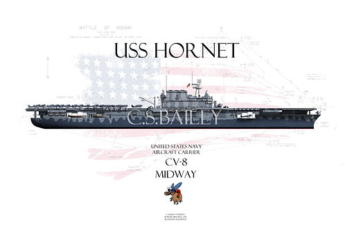 USS Hornet WL Midway T-shirt
