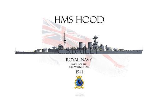HMS Hood WL 1941