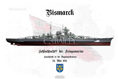 Bismarck Denmark Strait Camo FH t-shirt