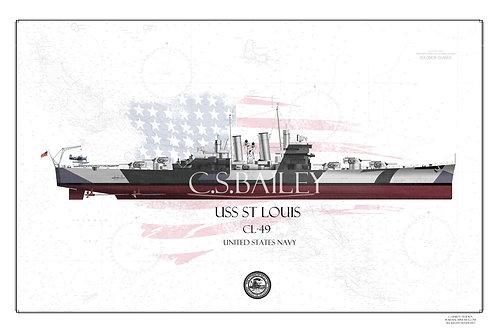 USS Saint Louis WL Print