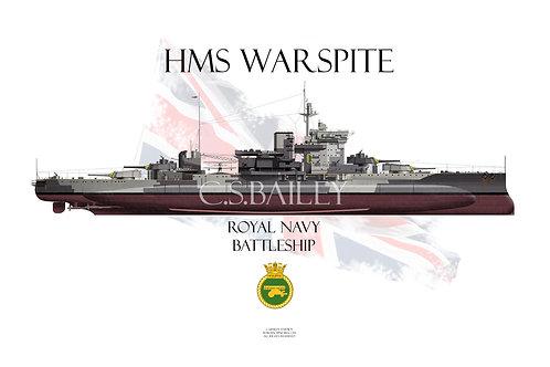 HMS Warspite FH t-shirt