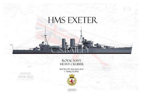 HMS Exeter WL t-shirt