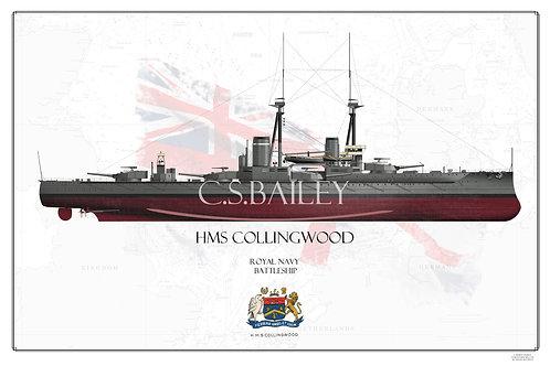 HMS Collingwood FH Print