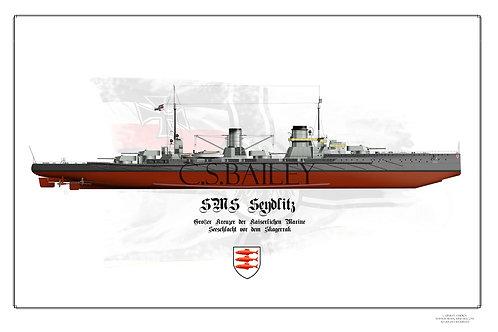 SMS Seydlitz FH 1914 print