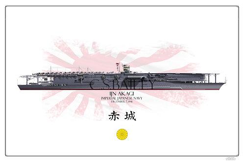 IJN Akagi WL Print
