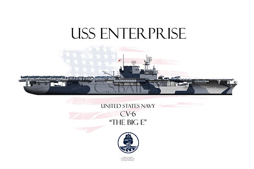 USS Enterprise WL Dazzle 1944 T-shirt