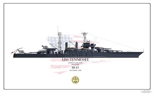 USS Tennessee 1941 BB-43