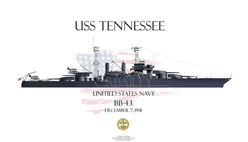 USS Tennessee BB-43 1941 WL T-shirt