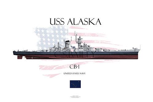 USS Alaska MS 22 FH T-shirt