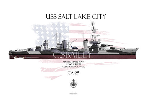 USS Salt Lake City Dazzle FH T-shirt