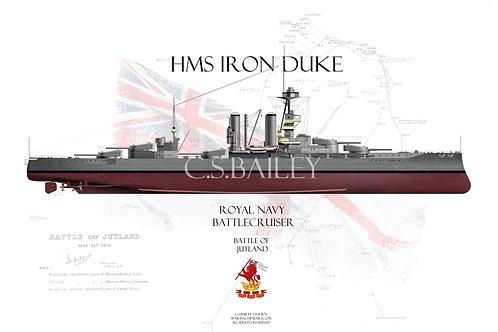HMS Iron Duke FH t-shirt