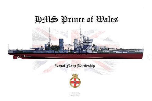 HMS Prince of Wales F/H t-shirt