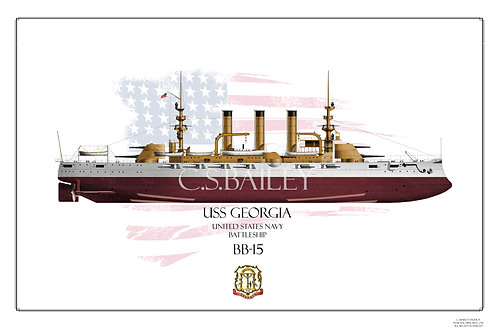 USS Georgia BB-15 FH Print