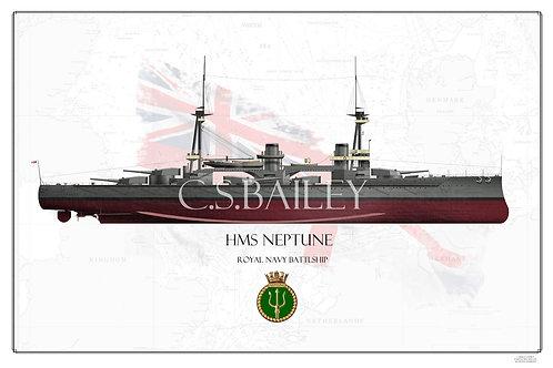 HMS Neptune FH print
