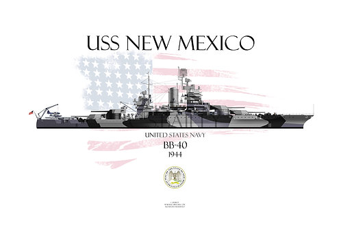 USS New Mexico BB-40  1944 WL T-shirt
