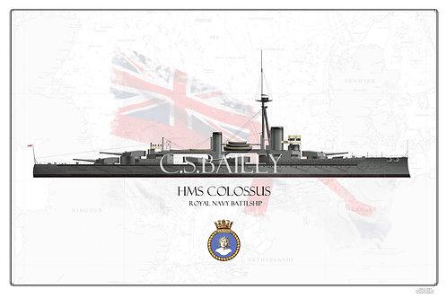 HMS Colossus WL print